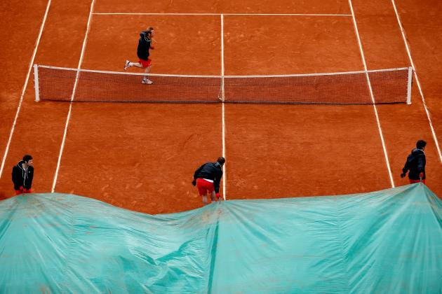 French Open Play Canceled Due to Rain on Day 5 at Roland Garros