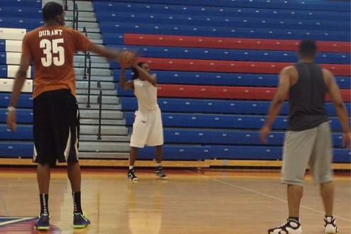 Kevin Durant Hits DeMatha High School for Spirited Pickup Games