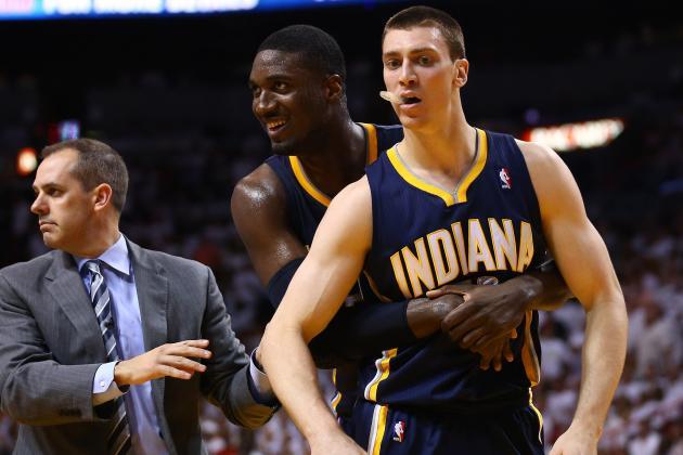 Hansbrough Questionable to Return with Sprained Ankle
