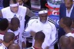 LeBron Rips Heat in Huddle at Halftime