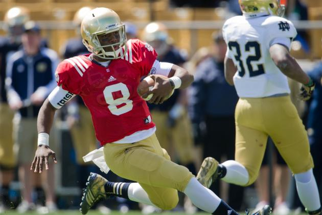 Zaire Makes Bid to Be Irish QB