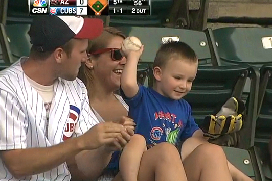Dad Stops Son from Throwing Ball Back