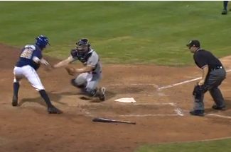 Player's Amazing Juke Move at Plate