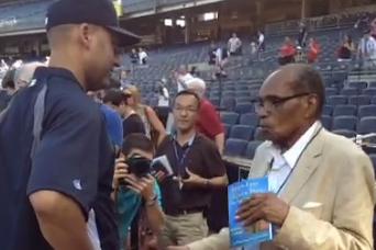 Derek Jeter Is Talking to a 111-Year-Old Man