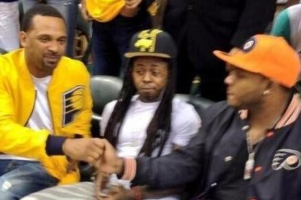 Lil Wayne Jumps on the Pacers Bandwagon Attends Game 6 (Photos)