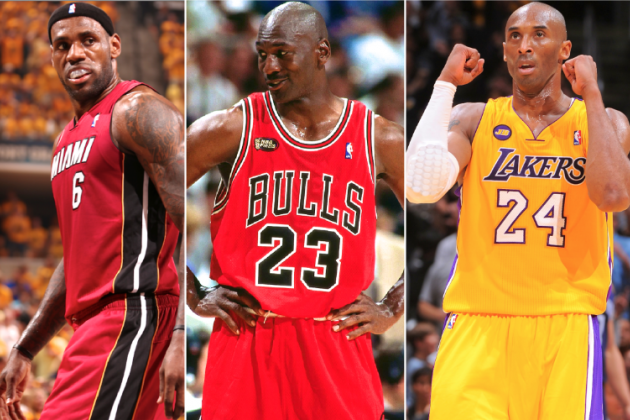 LBJ vs. Kobe vs. Jordan: Who's the All-Time King of Game 7s?