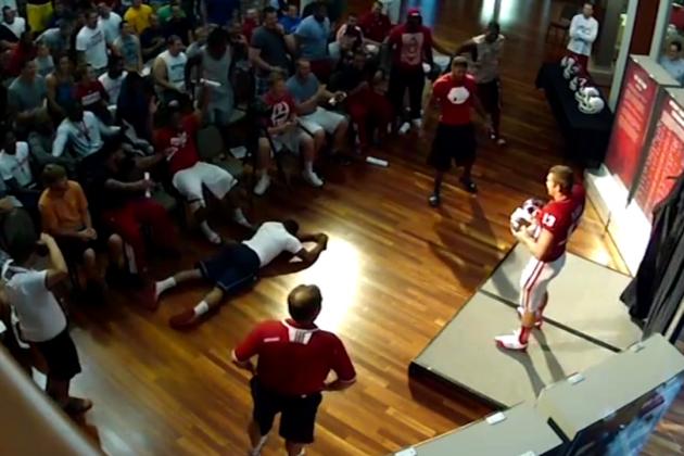 Indiana Players React to New Football Helmets