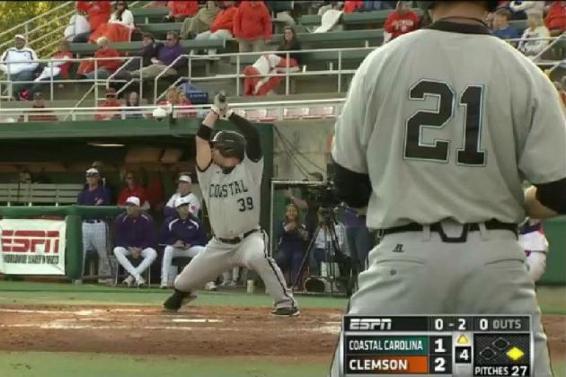 Coastal Carolina's Alex Buccilli Has the Weirdest Batting Stance in the Country