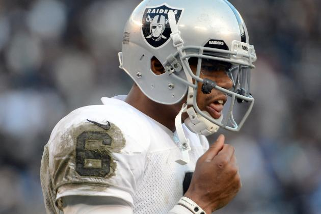 Terrelle Pryor 'not There Yet' at QB, Dennis Allen Says
