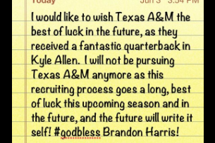 Alabama, Ohio State Target Brandon Harris Eliminates Texas A&M with Class