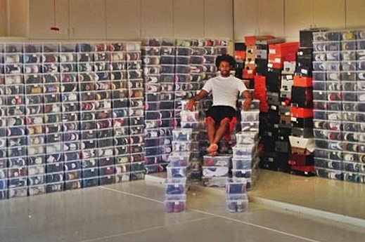 Josh Childress Shows Off His Monstrous Shoe Collection