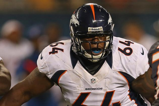 Philip Blake's Chances at Starting for Broncos Likely Better at Center