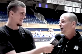 Video: Marshall Plumlee Does Funny Interview with Jay Bilas at Duke Fantasy Camp
