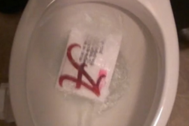 Recruit Flushes 'Bama Letter Down Toilet