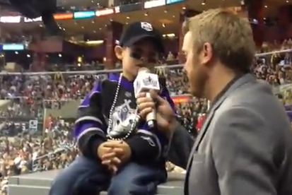 VIDEO: Young Kings Fan Really Knows His Team