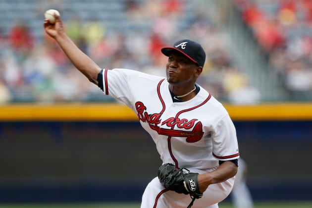Brandon Inge Breaks Up Julio Teheran's No-Hitter with Four Outs to Go