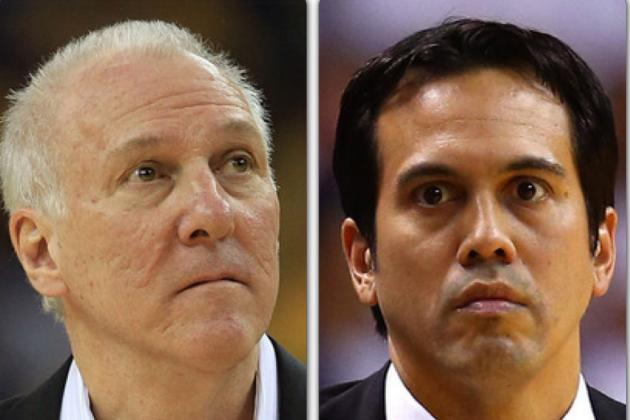 Erik Spoelstra vs. Gregg Popovich: How NBA Finals Generals Stack Up