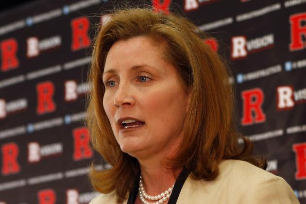Hermann Visits Rutgers, Meets with Coaches