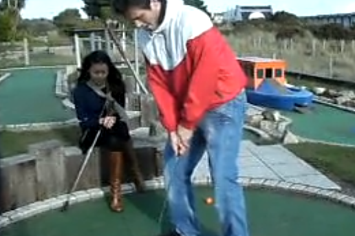 VIDEO: Mini-Golf Player Goes Crazy over Hole-in-One