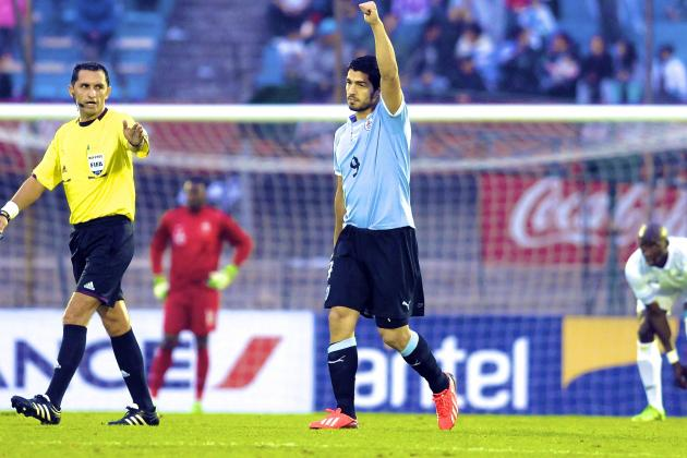 Suarez Goal Lifts Uruguay over Second-String France