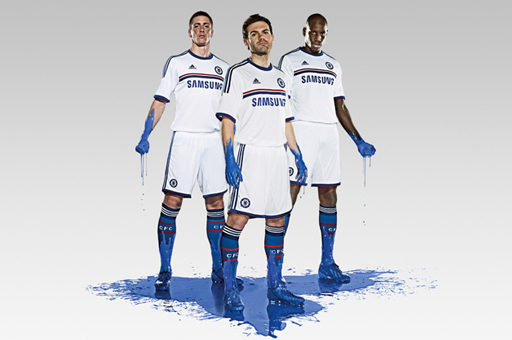 Chelsea Launch 2013-14 Away Kit with Tag Line 'It's Not White, It's Blue'