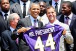 Ravens Visit President Obama at White House