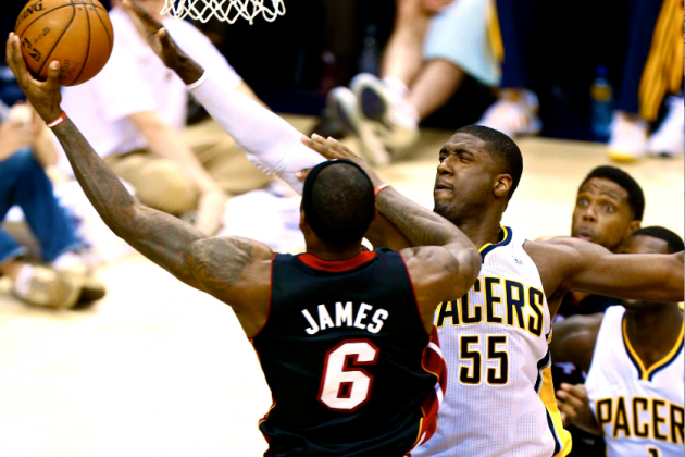 Roy Hibbert Thanks LeBron James, Wade and Bosh for Making Him 'Better Player'