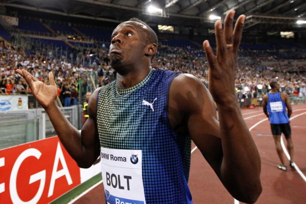 Usain Bolt Gives Perfect Reaction After Losing 100-Meter Dash to Justin Gatlin