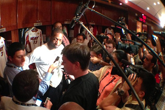 Instagram: Wade Speaks to Media Before Game 1