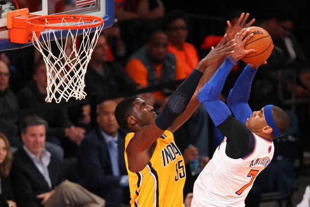 Roy Hibbert Gives Carmelo Anthony Bulletin Board Material on Twitter