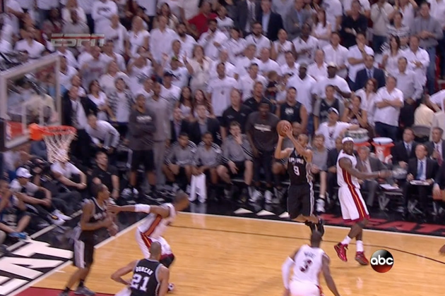 Tony Parker Falls Down and Still Hits Clutch Shot
