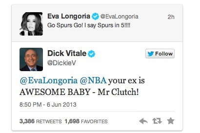 Dick Vitale Praises Tony Parker in Response to Eva Longoria's NBA Finals Tweet