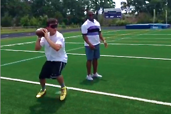 Johnny Manziel Proves He's Better Than Us Again with His Blindfolded Training