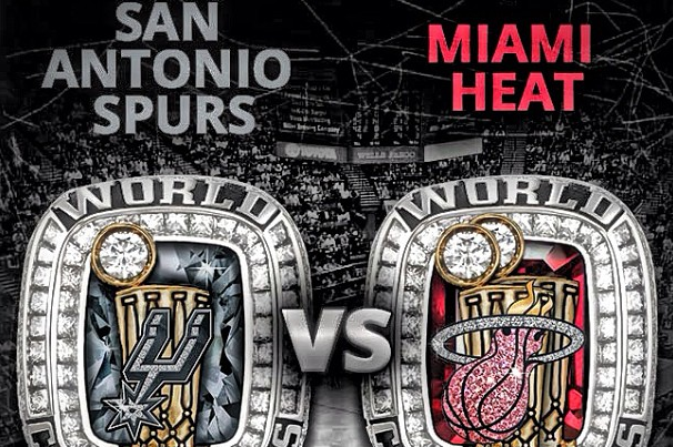 NBA Reveals Mocks of Rings and Banners for Winner of Spurs vs. Heat