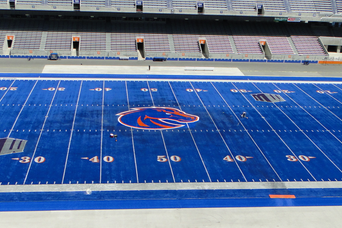 New Logo Installed at Bronco Stadium
