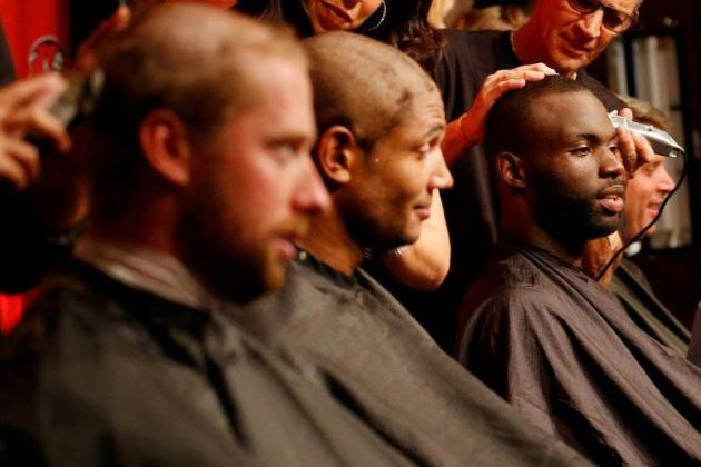 Tampa Bay Buccaneers Shave Heads in Support of Cancer Research