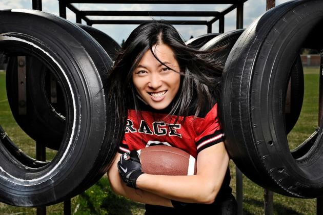 Esther Estairia Hong Magnificent Member of Calgary Rage Rookie Class