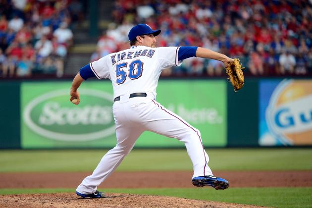 Rangers Place LHP Michael Kirkman on DL
