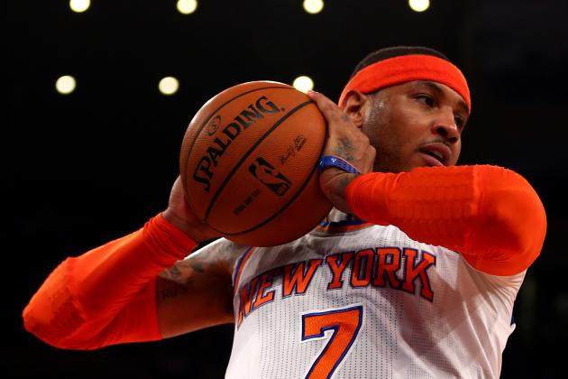 Carmelo Anthony Leads NBA Playoffs In Shot Attempts Going Into Game 2 of Finals