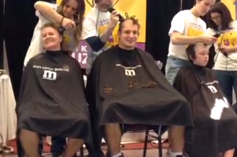 Rob Gronkowski Shaves Head in Support of Fight Against Cancer
