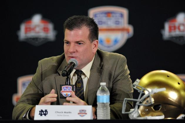 Notre Dame Football: 5 Biggest Challenges for Chuck Martin