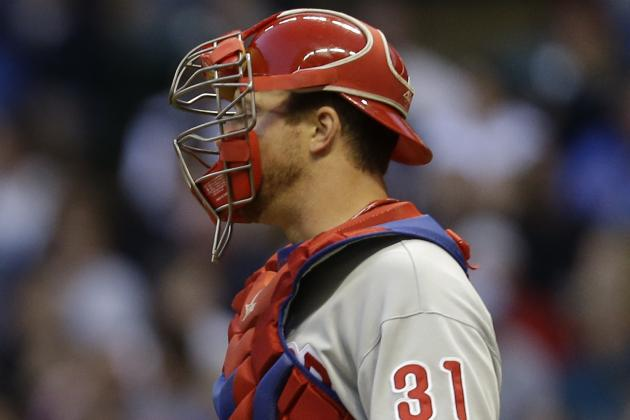 Phillies Place Erik Kratz on Disabled List with Knee Injury