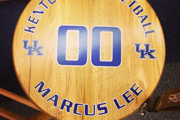 Instagram: Lee Shows off His Locker Room Seat