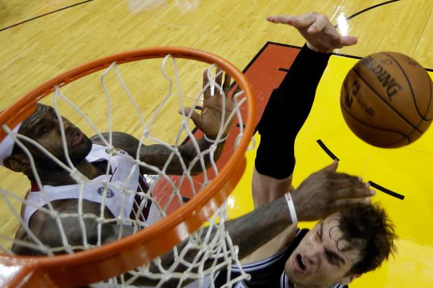 Which Swat Was Better, LeBron's Denial of Splitter or Hibbert's 'Melo Rejection?