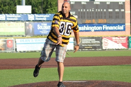 Gradkowski Takes the Mound for Wild Things