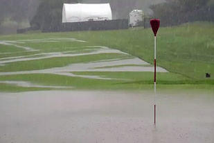 Merion Golf Club Saturated by Torrential Rain Heading into 2013 US Open