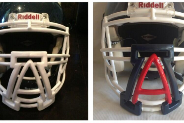 Arizona Wildcats Bring Their 'A' Game to Football Helmet Facemasks