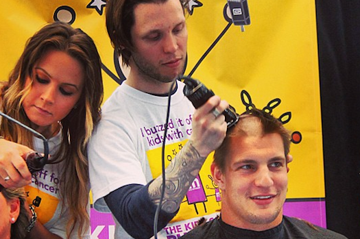 Rob Gronkowski Got His Head Shaved This Weekend