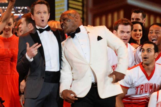 Mike Tyson Performs with Neil Patrick Harris at the Tony Awards