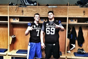Barker, Elam Pose for Photo in Kentucky Uniforms